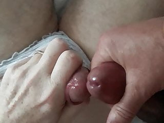 Crossdresser in panties gets his cum back