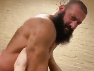 Hot bearded muscle men fuck